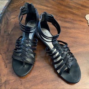 Elle leather gladiator sandals.